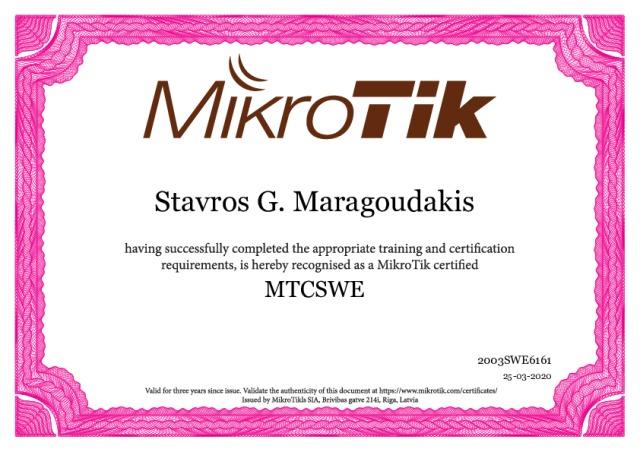 MTCSWE - MikroTik Certified Switching Engineer
