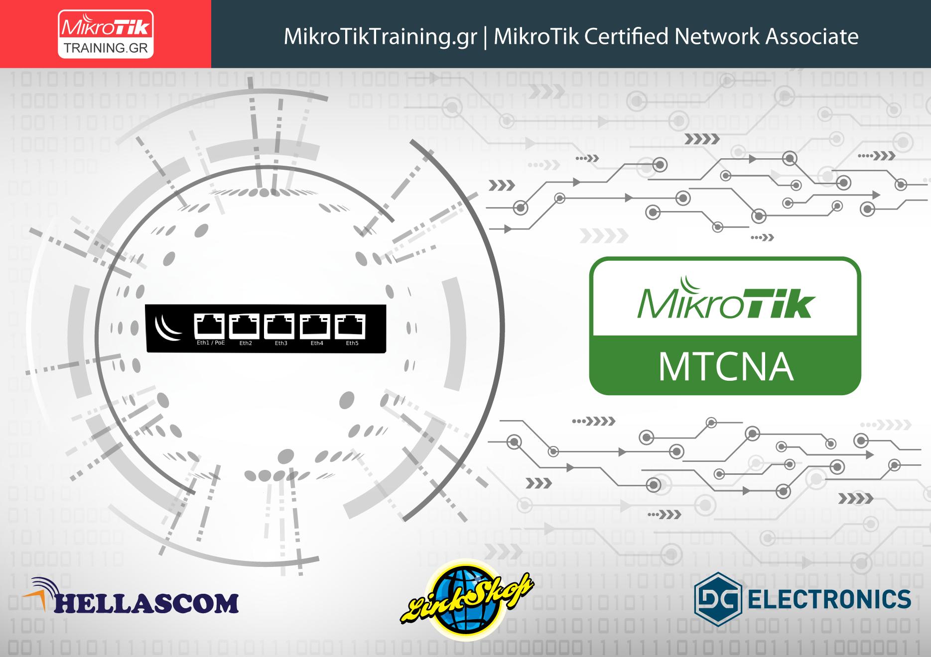 MTCNA – MikroTik Certified Network Associate (25 – 27 Σεπτεμβρίου 2020) Πειραιάς