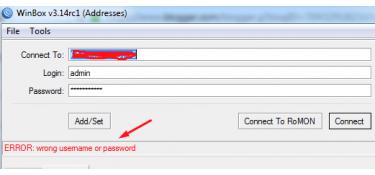 Τι πρέπει να κάνετε όταν ο δρομολογητής Mikrotik εμφανίζει λάθος όνομα χρήστη ή κωδικό πρόσβασης